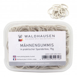 Sale - Elastic bands, white, 75 g