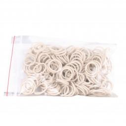 Sale - AWA Mane Plaiting Bands, white, bag 50 g
