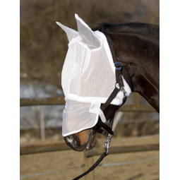 Sale - Fly mask with ears - white