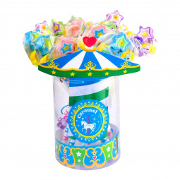 Pencils carousel horse with rubber