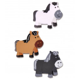 Radirka pony konjički, različne barve